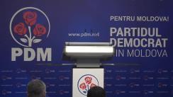 Briefing de presă organizat de Partidul Democrat din Moldova privind desfășurarea campaniei electorale