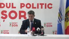 """Briefing de presă al candidatului Partidului Politic """"ȘOR"""" pentru Circumscripția nr. 10 Bălți, Pavel Verejanu"""