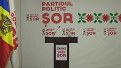 Briefing susținut de candidatul Partidului Politic ȘOR pentru circumscripția uninominală 50 (Europa), Tatiana Platon