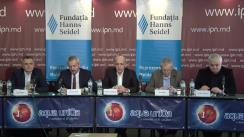 """Dezbateri publice cu tema """"Alegeri 2019: Scenarii post-electorale în viziunea experților în politologie, sisteme electorale și sociologie"""""""