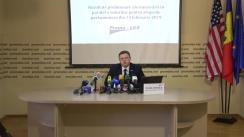 Conferință de presă organizată de Asociația Promo-LEX cu ocazia prezentării rezultatelor preliminare ale numărării paralele a voturilor pentru alegerile parlamentare din 24 februarie 2019