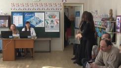 Alegeri 2019: Exprimarea votului de către candidatul PSRM, Ion Ceban