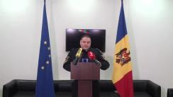 """Briefing de presă """"Asigurarea ordinii publice și a ordinii de drept pe parcursul zilei alegerilor"""""""