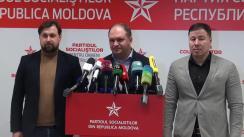 Briefing organizat de Partidul Socialiștilor din Republica Moldova după închiderea secțiilor de votare