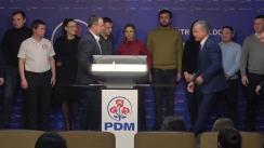 Briefing de presă susținut de liderii Partidului Democrat din Moldova după închiderea secțiilor de votare