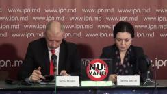 """Conferința de presă organizată de Partidul Mișcarea Populara Antimafie cu tema """"Propuneri pentru demontarea Statului Mafiot"""""""