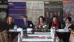 """Conferință de presă privind desfășurarea Festivalului Internațional de Muzică """"Mărțișor – 2019"""""""