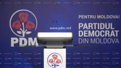 Briefing de presă susținut de vicepreședintele Partidului Democrat din Moldova, Vlad Cebotari