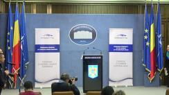 Declarație de presă susținută de Ministrul Afacerilor Interne al României, Carmen Dan, cu privire la rezultatele obținute în domeniul afaceri interne, în primele două luni ale anului, în contextul deținerii de către România a Președinției Consiliului Uniunii Europene