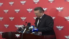 Declarații de presă ale liderului UNPR, Cristian Diaconescu