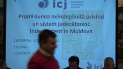 Prezentarea raportului misiunii Comisiei Internaționale a Juriștilor cu privire la independența justiției din Republica Moldova