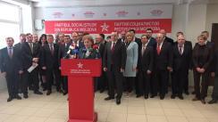 Briefing susținut de deputații noi aleși ai Partidului Socialiștilor din Republica Moldova
