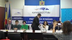 """Conferință de presă """"Promovarea consultării și participării copiilor, o prioritate a României în cadrul Președinției Consiliul Uniunii Europene"""""""