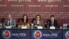 """Conferința de presă organizată de Institutul pentru Drepturile Omului din Moldova cu tema """"Rezultatele monitorizării situației drepturilor omului în Spitalele de Psihiatrie și Centrele de Plasament Temporar pentru Persoane cu Dizabilități"""""""