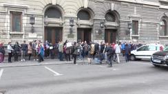 Protestul profesorilor și studenților Universității București împotriva OUG 7/2019