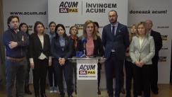 Conferință de presă susținută de Organizația de Femei a Partidului Acțiune și Solidaritate în contextul Zilei Internaționale a Femeii