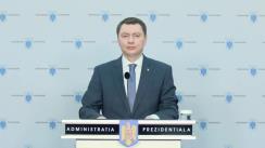 Declarație de presă susținută de consilierul prezidențial - Departamentul Politici Economice și Sociale, Cosmin Marinescu
