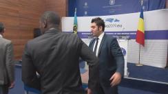 Conferință de presă susținută de Ministrul Afacerilor Externe al României, Teodor Meleșcanu, alături de Onorabilul Darren Henfield, ministrul afacerilor externe al Bahamas și președinte al Consiliului Relații Externe și Comunitare (COFCOR), și E.S. ambasador Irwin LaRocque, Secretar General al Comunității Caraibiene