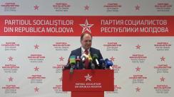 """Briefing susținut de Partidul Socialiștilor din Republica Moldova cu tema """"Replica socialiștilor după ce blocul ACUM a refuzat dialogul"""""""