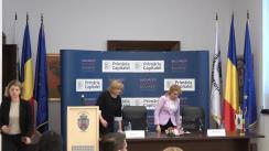 Conferință de presă susținută de Primarul General al Municipiului București, Gabriela Firea, și Comisarul European pentru Politică Regională, Corina Crețu, de prezentare a stadiului proiectelor derulate de Primăria Capitalei cu finanțare europeană, precum și proiectele aflate în pregătire pentru care administrația Bucureștiului dorește să obțină fonduri europene