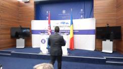 Declarații de presă susținute de ministrul afacerilor externe al României, Teodor Meleșcanu, și de viceprim-ministrul și ministrul afacerilor externe și europene al Republicii Croația, Marija Pejčinović Burić