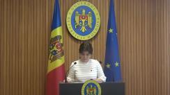 Declarațiile Silviei Radu după ședința Guvernului Republicii Moldova din 15 martie 2019