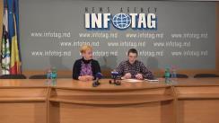 """Conferință de presă organizată de reprezentanții organizațiilor obștești pentru apărarea drepturilor omului din Ucraina, Nikolai Cojușco și Sevda Patrenaia, cu tema """"Prin ce se aseamnănă alegerile din Ucraina și Moldova? Va urma oare o răzbunare a regimul Ianukovici?"""""""