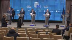 Conferință de presă comună a Președinției României la Consiliul Uniunii Europene, Consiliului European, Comisiei Europene și a reprezentanților angajaților și angajatorilor europeni