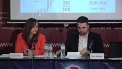 """Conferința de presă organizată de Fundația """"Youth Development for Innovation"""" cu tema """"Lansarea raportului de monitorizare nr. 3: Activitatea concurenților electorali pe dimensiunea online în perioada campaniei electorale"""""""