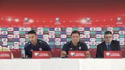 Conferință de presă susținută de selecționerul Moldovei, Alexandru Spiridon și a unui jucător