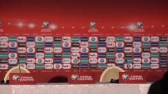 Conferință de presă susținută de selecționerul Franței, Didier Deschamps și a unui jucător