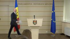 Declarațiile lui Pavel Filip după ședința de convocare a Parlamentului Republicii Moldova de legislatura a X-a