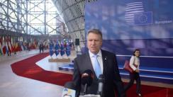Declarații de presă susținute de Președintele României, Klaus Iohannis, la sosirea la Consiliul European