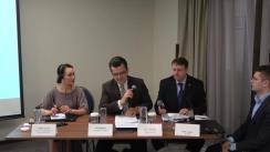 """Dezbaterea organizată de Fundația Universitară a Mării Negre Negre, cu sprijinul The Black Sea Trust for Regional Cooperation, cu tema """"Transnistria între Moscova și Chișinău - prima cercetare sociologică realizată dincolo de Nistru"""""""