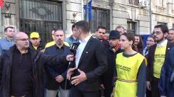 Candidatul independent la alegereile europarlamentare George Simion depune dosarul de candidatură la Biroul Electoral Central