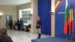Întâmpinarea prim-ministrului Republicii Bulgaria, Boyko Borissov, de către prim-ministrul României, Viorica Dăncilă