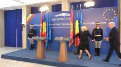 Declarații de presă susținute de  prim-ministrul României, Viorica Dăncilă, și prim-ministrul Muntenegrului, Duško Marković