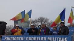 Miting de protest organizat de Sindicatul Cadrelor Militare Disponibilizate