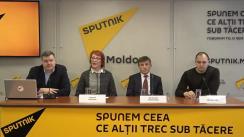 """Conferința de presă cu tema """"Sport și sănătate pentru toți, o idee unificatoare pentru Moldova"""""""