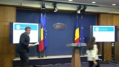 Conferință de presă susținută de Ministrul Muncii și Justiției Sociale al României, Marius Budăi