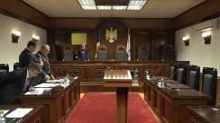 Ședința Curții Constituționale de examinare a sesizării nr. 52a/2019 privind controlul constituționalității articolului 25 alin. (6) din Legea nr. 278 din 14 decembrie 2007 privind controlul tutunului