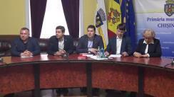 """Briefing susținut de consilierii municipali ai PSRM cu tema """"De ce executivul nu convoacă consiliul la inițiativa socialiștilor?"""""""
