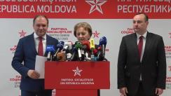 Declarații de presă după ședința comună a Comitetului executiv politic al Partidului Socialiștilor din Republica Moldova și fracțiunea parlamentară a PSRM
