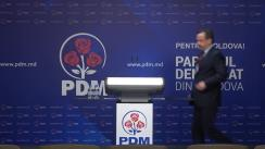 Briefing organizat de Partidul Democrat din Moldova