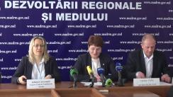 Conferință de presă organizată de Ministerul Agriculturii, Dezvoltării Regionale și Mediului despre progresul cooperării moldo-ucrainene în vederea consolidării dezvoltării durabile în bazinul Nistru