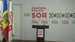 """Briefing de presă susținut de președintele Partidului Politic """"ȘOR"""", deputat în Parlamentul Republicii Moldova, Ilan Șor"""