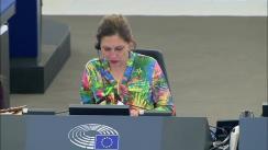 Ședința Parlamentului European. Dezbaterea statului de drept în România