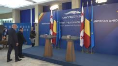 Declarații de presă susținute de prim-ministrul României, Viorica Dăncilă, și prim-ministrul Georgiei, Mamuka Bakhtadze