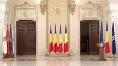 Ceremonia de decorare de către Președintele României, Klaus Iohannis, a unor instituții din domeniul medical
