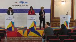 Conferință de presă susținută de ministrul Sănătății al României, Sorina Pintea, și Anne Bucher, director general al DG SANTE, responsabil pentru sănătate și siguranța alimentelor